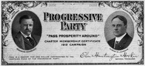 Bull Moose Party Charter Member Certificate