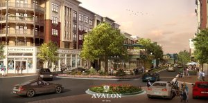 Not all mixed-use developments are created equal. Cheapest rent at Avalon in Alpharetta, GA tops $1500 per month. (Source: Avalon)