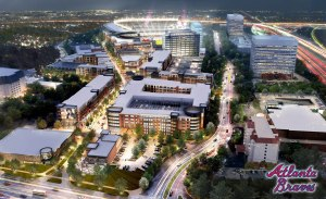 "Even the Atlanta Braves' new development ""urbanizes"" existing suburbs."