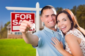"Nothing screams ""stock photo"" like a picture of excited millennials buying a house."
