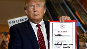 "Do you see anything binding about this ""pledge?"" I sure don't... (Photo credit: The Associated Press)"