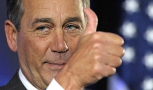 """Goodbye, nut jobs!"" -What John Boehner quite possibly could be thinking right now. (Photo Credit: Associated Press)"