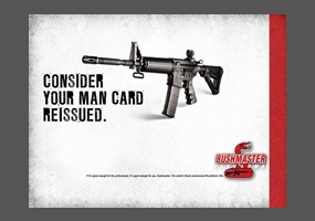 An actual ad used by Bushmaster to sell assault rifles.